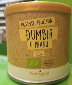 Đumbir u prahu - Organski 100g Nutrigold